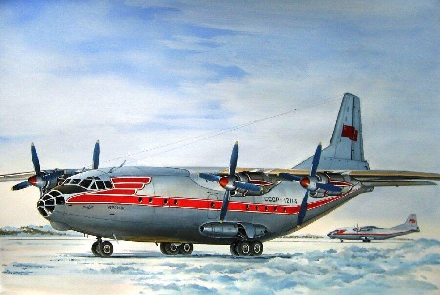 1  144 Eastern Transport flygagagplan An -12B AEROFLOT 14475