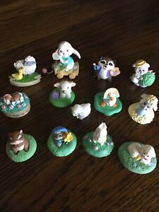 Set of 13 Hallmark Easter Merry Miniatures - Some vintage
