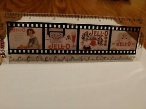 """Vintage 6"""" Clear Ruler With Jell-O Advertising Inside Kodak Slide View Rare Cool"""