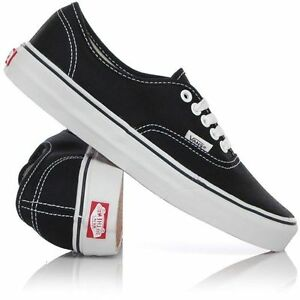 Vans-Shoes-Authentic-Black-White-USA-SIZE-Classic-Skateboard-Sneakers-FREE-POST