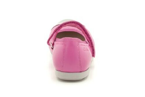 New Clarks Girls Dance Bee Lipstick Pink Leather  Shoes Size 7//7.5