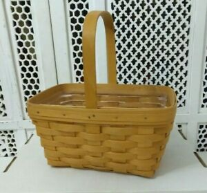 HAND-WOVEN-LONGABERGER-BASKET-WITH-PLASTIC-INSERT