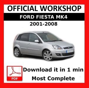 official workshop manual service repair ford fiesta 2001 2008