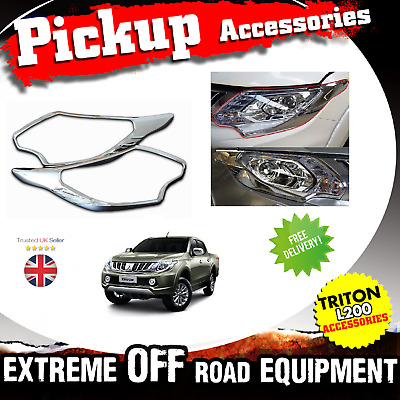 Toyota Hilux Revo 2016-2017 CHROME REAR TAIL LIGHT LAMP COVERS TRIMS SURRO M129