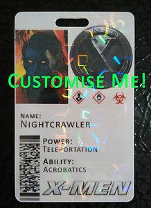 X-Men Xavier's escuela para superdotados jóvenes Novedad tarjeta de identificación-Totalmente Personalizable
