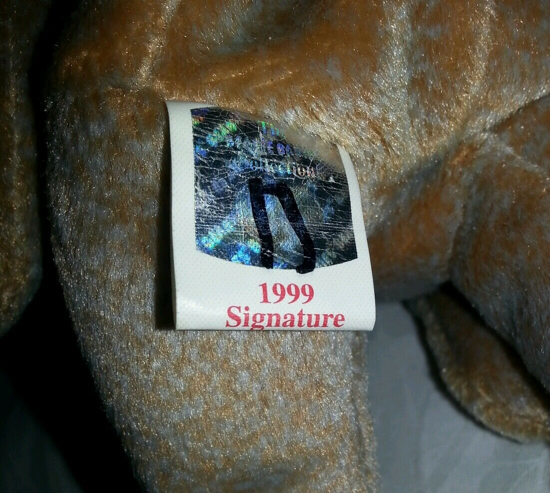 Authentic TY TY TY Beanie Baby 1999 SIGNATURE TEDDY Bear  Rare Retired Original 8c4fd3