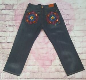 6845eaf4453 Mens Authentic Coogi Australia Hip Hop Jeans Black Denim Embroidered ...