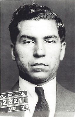 Forceful Lucky Luciano Mug Shot 8x10 Photo Mafia Organized Crime Mobster Mob Picture Activating Blood Circulation And Strengthening Sinews And Bones Mobs, Gangsters & Criminals Collectibles