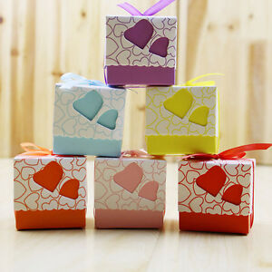 pas-cher-100-Pieces-C-ur-Amour-bonbon-Boites-Cadeau-de-mariage-fete-coffrets