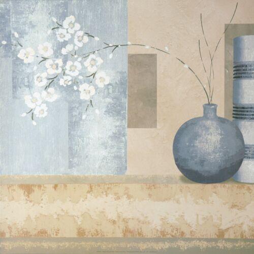 Wand Bild Linda Wood Stillleben Vasen /& Töpfe Malerei Creme 59x59x1,2 cm A5YY