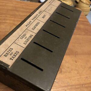 Vintage Pilot Thrift Money Savings Box Metal Cash Tin Rent Rates Retro Moneybox