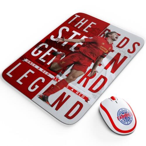 Gerrard Liverpool Mouse Mat Pad Work Computer Gaming Football Legend Gift LG73