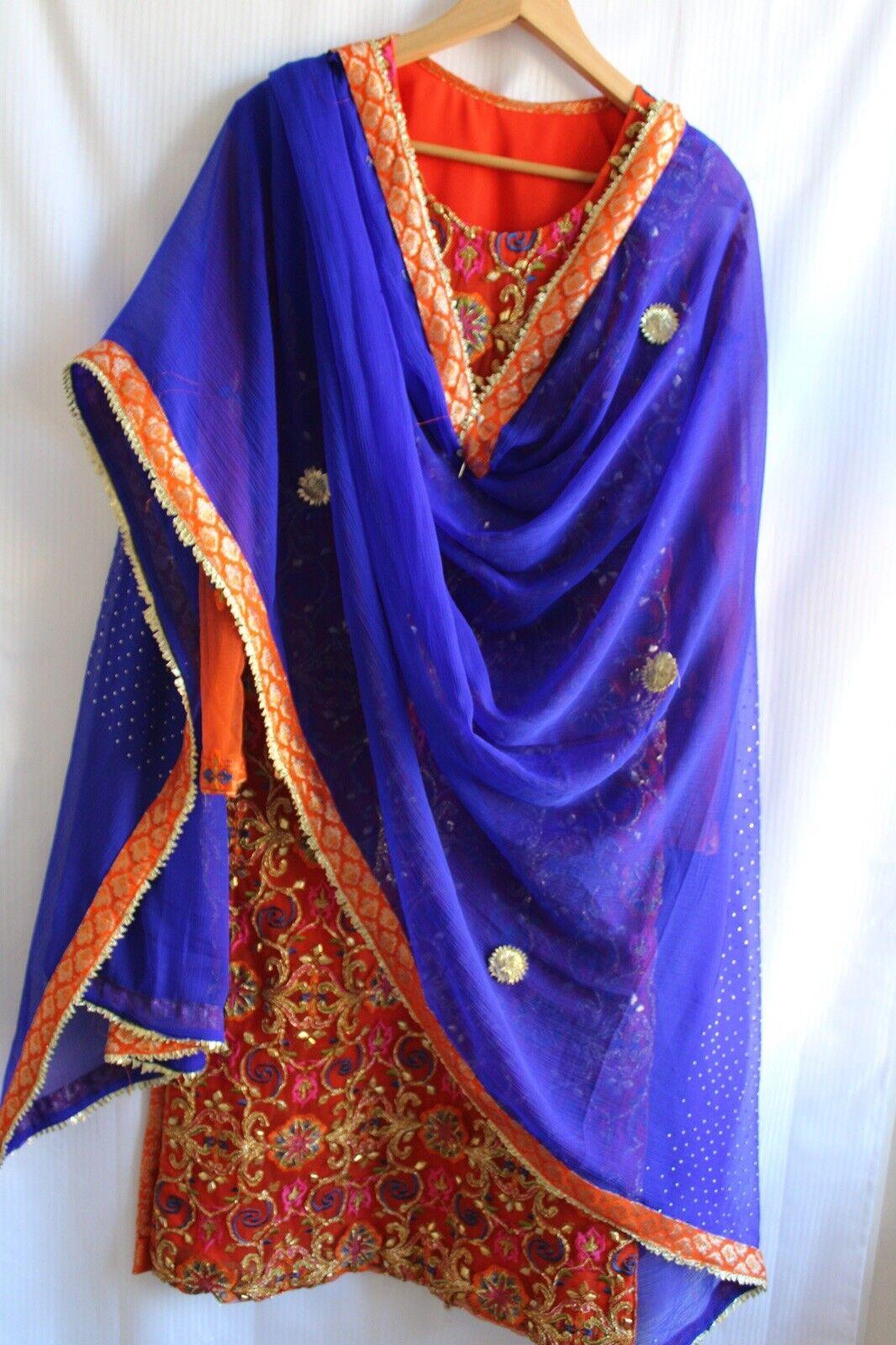 Brand New Indian Pakistani Wedding Party Dress With Dupatta - With Dupatta.