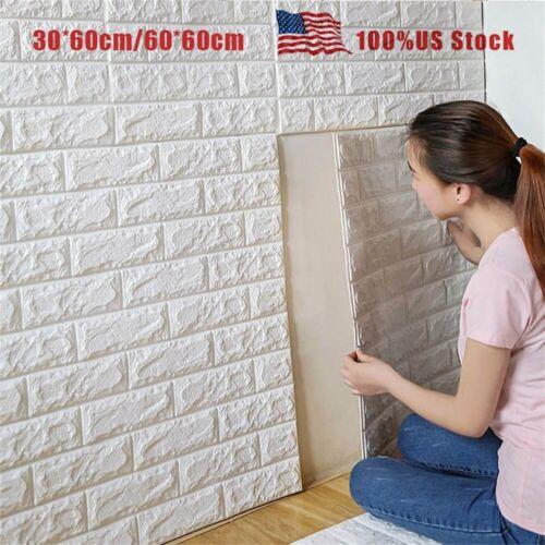 PE Foam Wall Sticker 3D Brick Stone Embossed Wall Paper DIY Wall Home Decor Lot