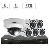Lorex 8-channel Hd Ip Nvr With 3tb Hdd, 5 4mp Bullet Cameras & 1080p Ptz Camera