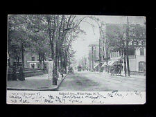 1907 Stores Railroad Ave. White Plains NY post card Westchester County