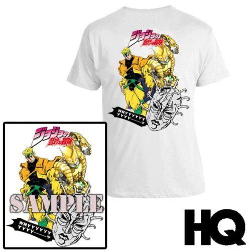 JoJo Bizarre Adventure Dio Brando  ANIME T-SHIRT SHORT SLEEVE S M L XL XXL