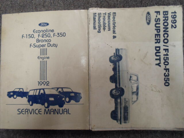 1992 Ford F150 F250 F350 Bronco Truck Service Shop Repair Manual Set Oem Books