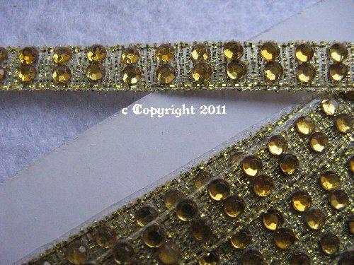 8mm Gold ss10 grdpr .9 metros 51,30 50cm pedrería banda cenefa con piedras aprox