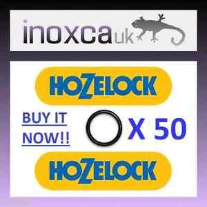 """HonnêTe 50 Hozelock Remplacement """"o"""" Anneaux O-ring Caoutchouc Joint Kit Quick Connect 50-afficher Le Titre D'origine"""