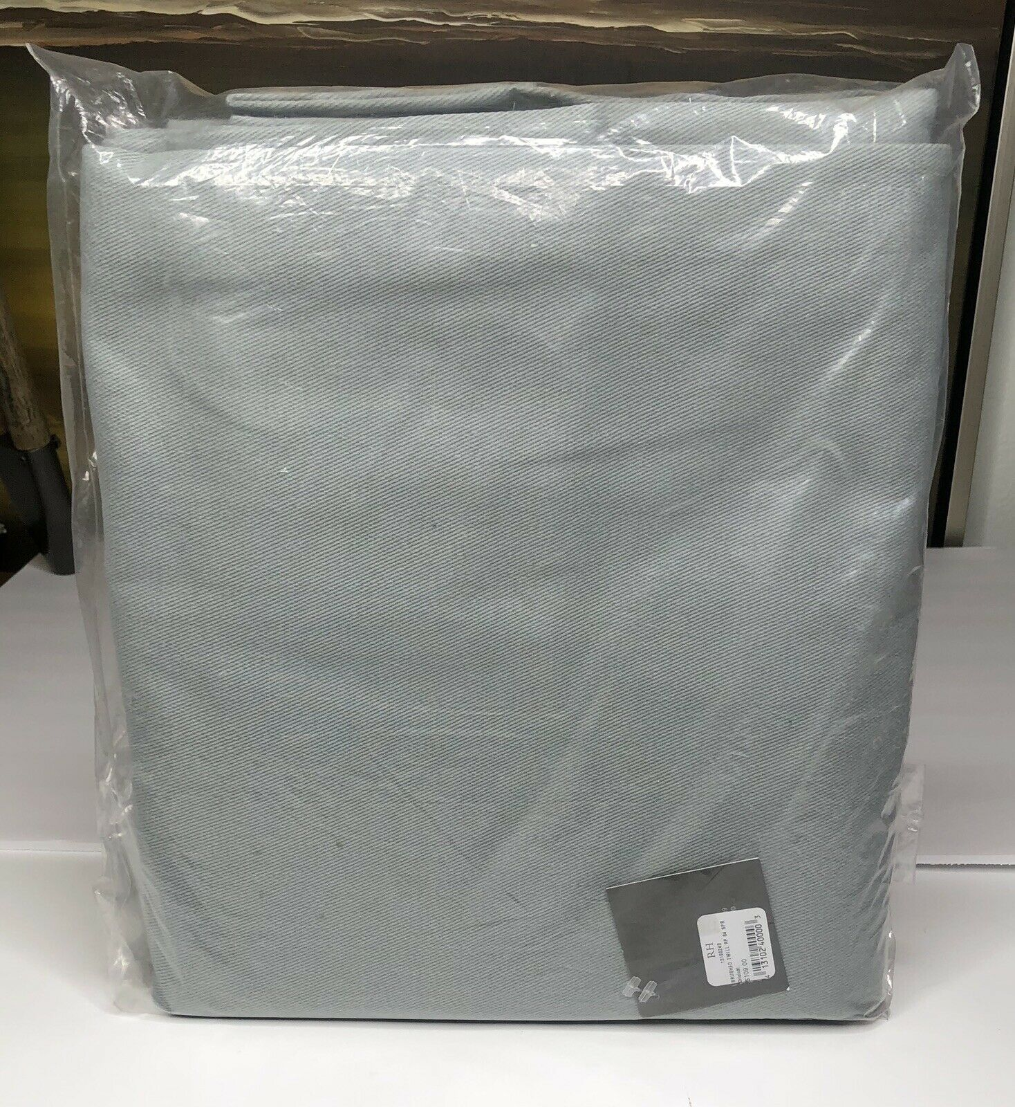 Restoration Hardware Brushed Cotton Twill Drapery RP 50 W x 84 L Spruce NEW  109