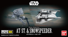Bandai Vehicle Model 008 Star Wars At-st Height 60mm & Snow Speeder 40mm Plastic