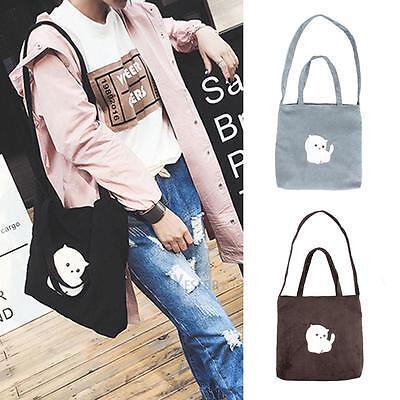 Women Capacity Canvas Shoulder Bag Suede Handbag Ladies Crossbody Bag Hobo Totes