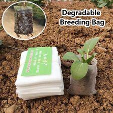 100pcs Non-woven Fabrics Plants Seedling Bags Degradable Breeding Bag