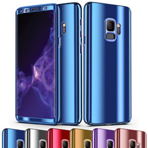 97443cafde20 360° Full Protection Slim Mirror Hard Case Cover For Samsung Galaxy ...