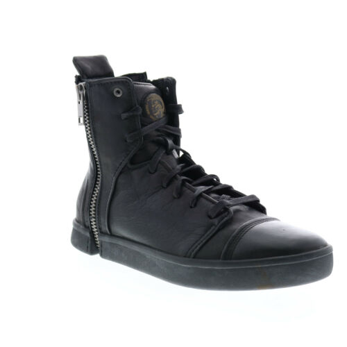 Diesel Zip-Round S-Nentish Hbd Mens Black Leather Lifestyle Sneakers Shoes 8.5