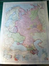 MAP FROM PHILIP'S ATLAS 1945 - RUSSIA IN EUROPE & BORDERING STATES - 67-68/45
