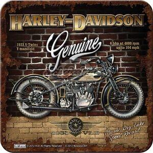 Nostalgic-Art-Metalluntersetzer-Harley-Davidson-Genuine-At-Wall-9-x-9
