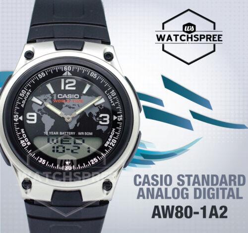 1 of 1 - Casio Analog Digital Watch AW80-1A2