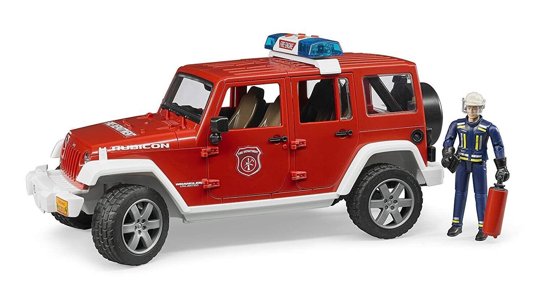 calidad fantástica Bruder  02528 Jeep Wrangler Wrangler Wrangler Rubicon fuego ambulancia con Bombero  2528  ventas en linea