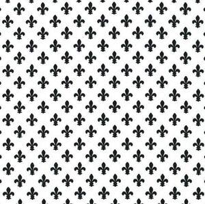 Michael-Miller-Fleur-de-lis-BLACK-and-WHITE-100-Cotton-Fabric-FQ-CX6556-EBONY