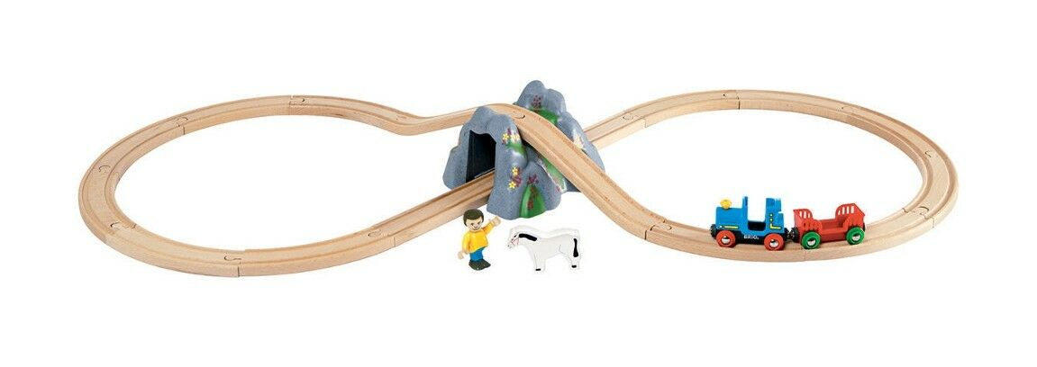 BRIO 33027 - Railway Mountain Tunnel   Figure  8  Set - 21 Piece - Genuine BRIO
