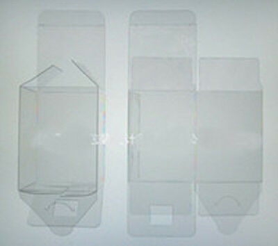 100 PVC Plastic Acetate Bomboniere favor clear wedding gift 5cm square cube box