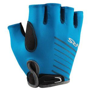 NRS-Men-039-s-Half-Finger-Marine-Blue-Paddling-amp-Rowing-50-UPF-Boater-039-s-Gloves-XS