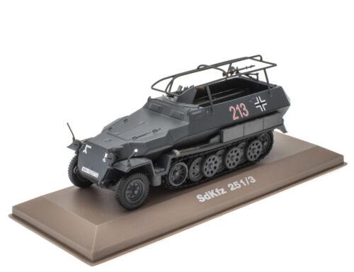 SdKfz 251//3 Halbkette Die-Cast Militär Fertigmodell Maßstab 1:43