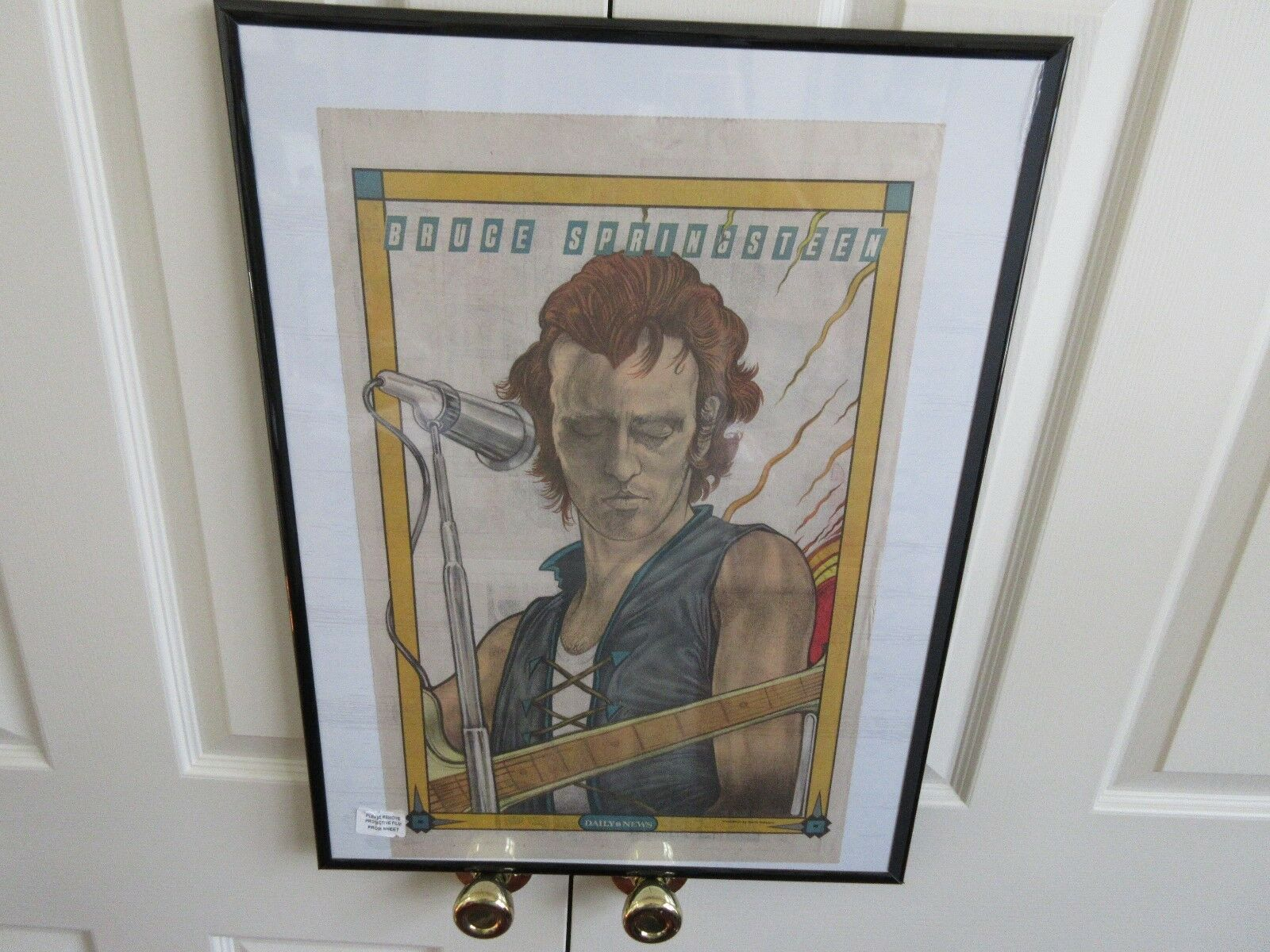 Bruce Springsteen , New York Sunday News , Comic Poster