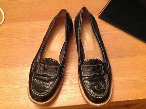Ladies Black Italian Leather loafers