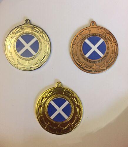 PP Vous Choisissez La Médaille Ruban et couleurs 10x Écosse médailles Gratuit P