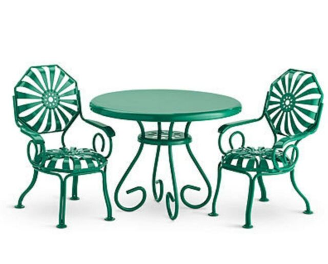 American Kit Table Chairs Nib Green Metal Patio Furniture Nanea Molly