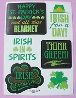 Vintage Paper Art 1 Sheet 6 Stickers St.patricks Day Irish Blarney