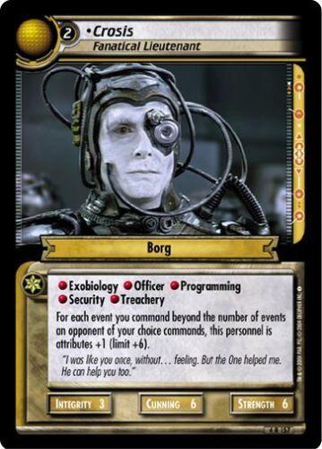 Star Trek CCG 2E Necessary Evil Crosis, Fanatical Lieutenant 4R157
