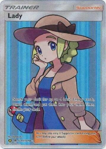 Full Art Ultra Rare Near Mint Sun /& Moon Hidden Fates 3Q6 Lady SV86//SV94