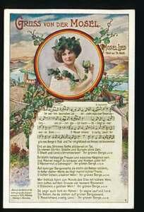 AK Gruss von der Mosel mit Mosel-Lied, gelaufen Cochem 1931 (63197)