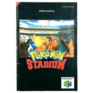 Notice-jeu-N64-Pokemon-Stadium-Nintendo-64-Livret-Instruction-Manuel-PAL-FRA