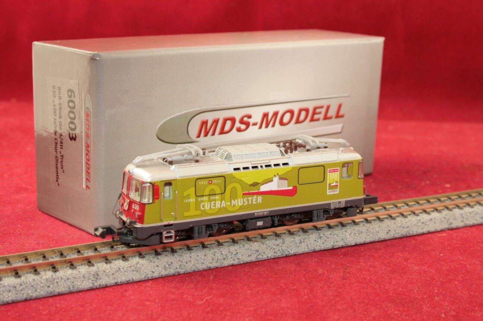 saldi MDS-modellololo 60003 E-Lok GE 4 4 II Tcorrere Tcorrere Tcorrere 630 RHB  100 anni Chur-Disentis  Nuovo Scatola Originale  conveniente