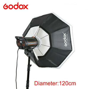 "120cm 47"" Godox Octagon Softbox Bowens Mount Studio Strobe Camera Flash Light"